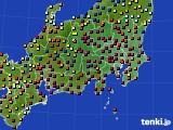 関東・甲信地方のアメダス実況(日照時間)(2017年01月02日)
