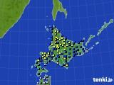 2017年01月05日の北海道地方のアメダス(積雪深)