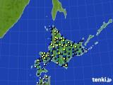 2017年01月06日の北海道地方のアメダス(積雪深)