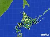 2017年01月07日の北海道地方のアメダス(積雪深)