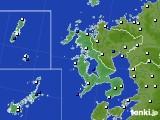 2017年01月08日の長崎県のアメダス(風向・風速)