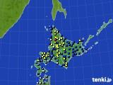 北海道地方のアメダス実況(積雪深)(2017年01月10日)