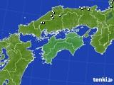 四国地方のアメダス実況(降水量)(2017年01月12日)