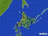 2017年01月12日の北海道地方のアメダス(積雪深)