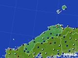 島根県のアメダス実況(日照時間)(2017年01月12日)