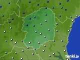 栃木県のアメダス実況(気温)(2017年01月12日)