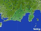 静岡県のアメダス実況(気温)(2017年01月12日)