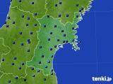 2017年01月12日の宮城県のアメダス(気温)