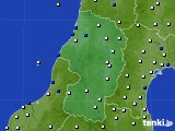 山形県のアメダス実況(風向・風速)(2017年01月12日)