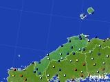 2017年01月13日の島根県のアメダス(日照時間)