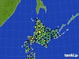 2017年01月14日の北海道地方のアメダス(積雪深)