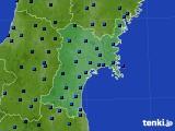 2017年01月14日の宮城県のアメダス(気温)