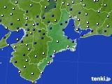 2017年01月14日の三重県のアメダス(風向・風速)