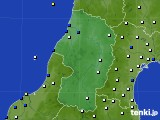 2017年01月14日の山形県のアメダス(風向・風速)