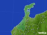 2017年01月15日の石川県のアメダス(降水量)