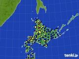 2017年01月15日の北海道地方のアメダス(積雪深)