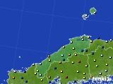 2017年01月15日の島根県のアメダス(日照時間)