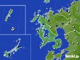 2017年01月15日の長崎県のアメダス(風向・風速)