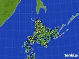 2017年01月16日の北海道地方のアメダス(積雪深)