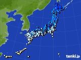 2017年01月16日のアメダス(気温)