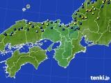 2017年01月18日の近畿地方のアメダス(積雪深)
