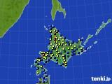 2017年01月19日の北海道地方のアメダス(積雪深)