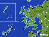 2017年01月20日の長崎県のアメダス(風向・風速)