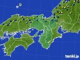 2017年01月21日の近畿地方のアメダス(積雪深)