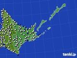 2017年01月21日の道東のアメダス(風向・風速)