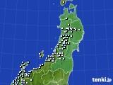 2017年01月22日の東北地方のアメダス(降水量)