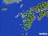 九州地方のアメダス実況(日照時間)(2017年01月22日)
