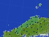 2017年01月22日の島根県のアメダス(日照時間)