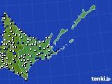 2017年01月22日の道東のアメダス(風向・風速)