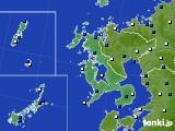 2017年01月22日の長崎県のアメダス(風向・風速)