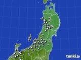 2017年01月23日の東北地方のアメダス(降水量)