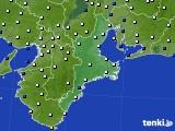 2017年01月23日の三重県のアメダス(風向・風速)