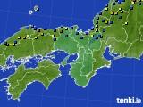 2017年01月25日の近畿地方のアメダス(積雪深)