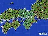 2017年01月25日の近畿地方のアメダス(日照時間)
