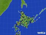 2017年01月27日の北海道地方のアメダス(積雪深)