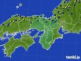 近畿地方のアメダス実況(積雪深)(2017年01月28日)