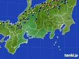 東海地方のアメダス実況(積雪深)(2017年01月29日)