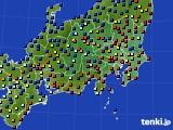 関東・甲信地方のアメダス実況(日照時間)(2017年01月30日)