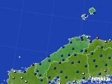 2017年01月30日の島根県のアメダス(日照時間)