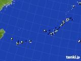 沖縄地方のアメダス実況(風向・風速)(2017年01月30日)