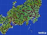 関東・甲信地方のアメダス実況(日照時間)(2017年01月31日)