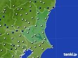 茨城県のアメダス実況(風向・風速)(2017年01月31日)