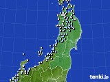 2017年02月01日の東北地方のアメダス(降水量)