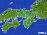 近畿地方のアメダス実況(積雪深)(2017年02月01日)