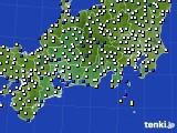 東海地方のアメダス実況(風向・風速)(2017年02月01日)
