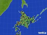 2017年02月02日の北海道地方のアメダス(積雪深)